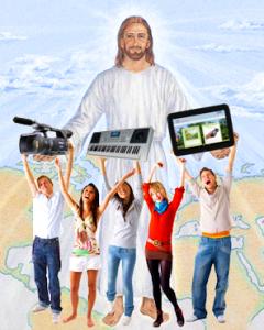 Jesus with media champions